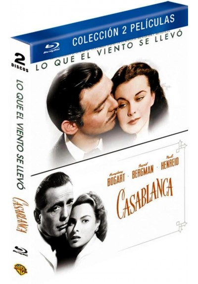 Pack Lo Que El Viento Se Llevó / Casablanca (Nueva Edición) (Blu-Ray)