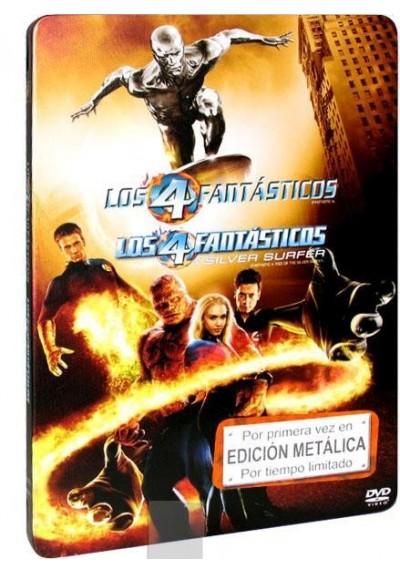 Los 4 Fantásticos + Los 4 Fantásticos y Silver Surfer (Estuche Metalico)