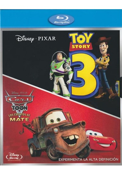 Pack Toy Story 3 / Cars Toon : Los Cuentos De Mate (Blu-Ray)