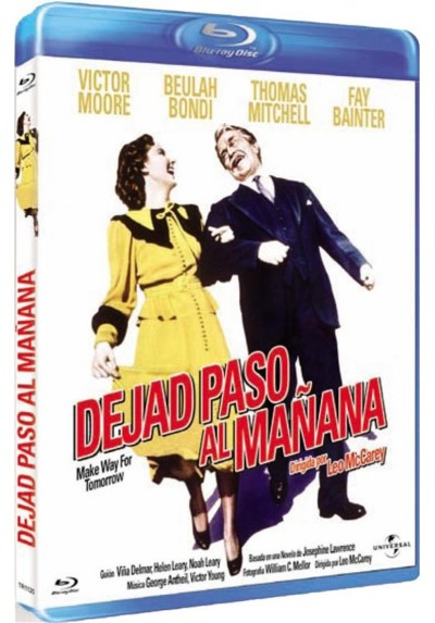 Dejad Paso Al Mañana (Blu-Ray) (Make Way For Tomorrow)