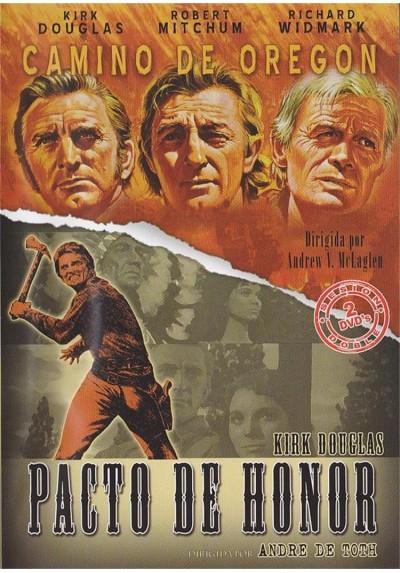 Cine Western - Kirk Douglas - Camino De Oregon y Pacto De Honor
