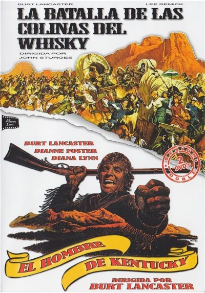 Cine Clasico Western - Burt Lancaster - La Batalla De Las Colinas Del Whisky y El Hombre De Kentucky