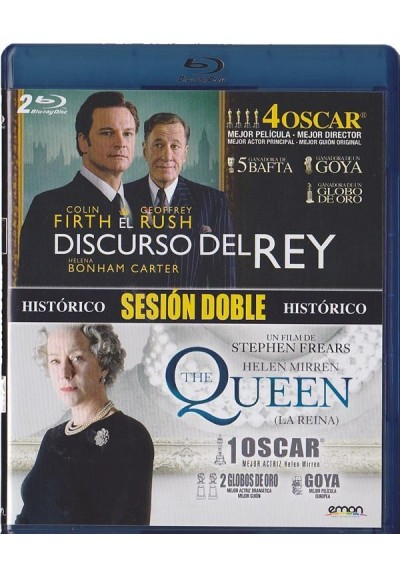 Doble Sesion Historico - El Discurso Del Rey / The Queen (La Reina) (Blu-Ray)