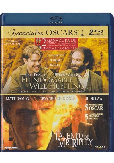 Doble Esenciales OSCARS - El Indomable Will Hunting / El Talento De Mr. Ripley (Blu-Ray)
