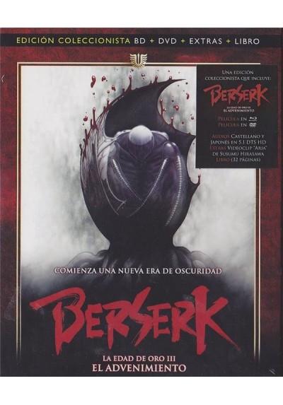 Berserk : La Edad De Oro III - El Advenimiento (Blu-Ray + Dvd + Libro)