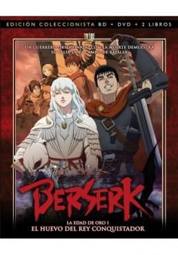 Berserk : La Edad De Oro - El Huevo Del Rey Conquistador (Blu-Ray + Dvd + 2 Libros)