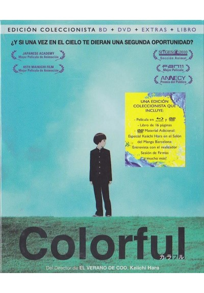 Colorful (Blu-Ray + Dvd + Extras + Libro)