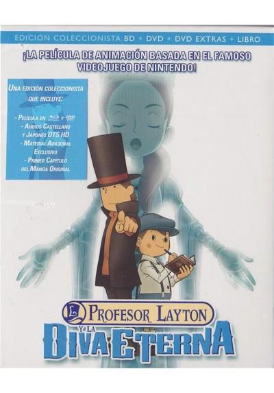 Profesor Layton Y La Diva Eterna (Blu-Ray + Dvd + Libro) (Eiga Reiton-Kyôju To Eien No Utahime)