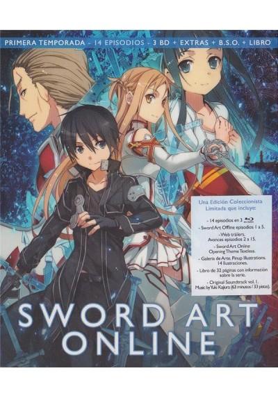 Sword Art Online - 1ª Temporada (Blu-Ray + B.S.O. + Extras + Libro)