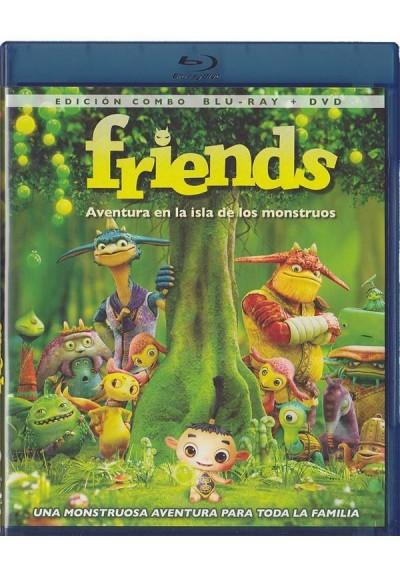 Friends : Aventura En La Isla De Los Monstruos (Friends: Naki On The Monster Island) (Blu-Ray + Dvd)