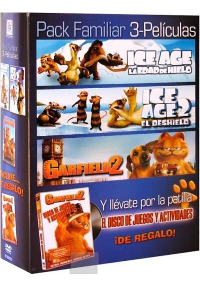Pack Ice Age + Ice Age 2 El Deshielo + Garfield 2 + Disco de Juegos y Actividades de Garfield 2
