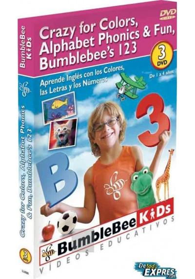 Aprende Inglés con los Colores, las Letras y los Números (Crazy Colors, Alphabet Phonics & Fun, Bumblebee's 123)
