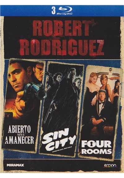 Robert Rodriguez : Abierto Hasta El Amanecer / Sin City / Four Rooms (Blu-Ray)