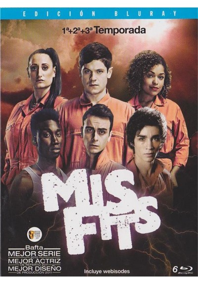 Pack Misfits - Temporadas 1 - 3 (Blu-Ray)