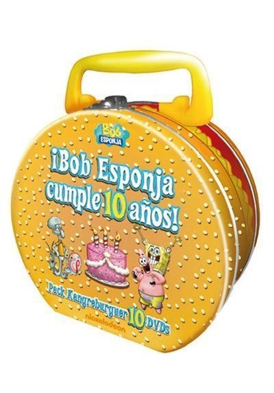 Bob Esponja : Cumple 10 Años (Kangreburguer) (Maletin Metalico)
