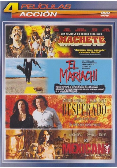 Pack Accion: Machete / El Mariachi / Desperado / El Mexicano