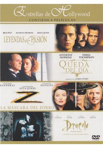 Estrellas de Hollywood : Leyendas de pasion - Lo que queda del dia - La mascara del zorro - Dracula