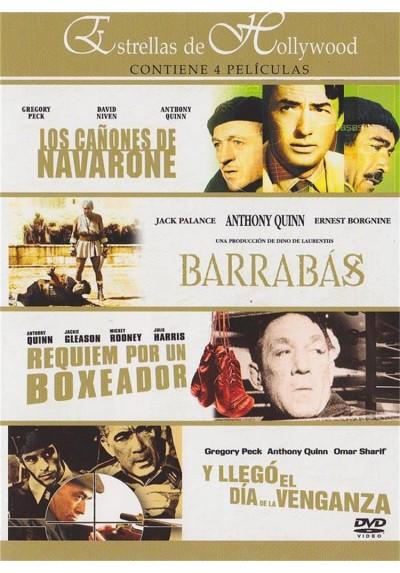 Estrellas de Hollywood : Los Cañones De Navarone - Barrabas - Requiem Por Un Boxeador - Y Llego El Dia De La Venganza