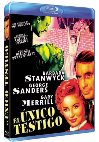 El Unico Testigo (Blu-Ray) (Witness To Murder)