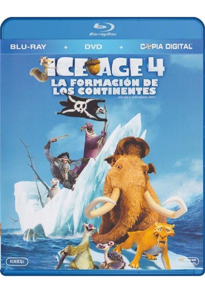 Ice Age 4 : La Formacion De Los Continentes (Blu-Ray + Dvd + Copia Digital) (Ice Age: Continental Drift)