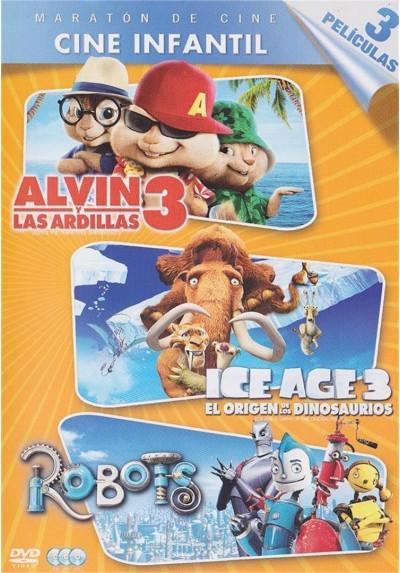 Pack Triple - Alvin Y Las Ardillas 3 / Ice Age 3 : El Origen De Los Dinosaurios / Robots
