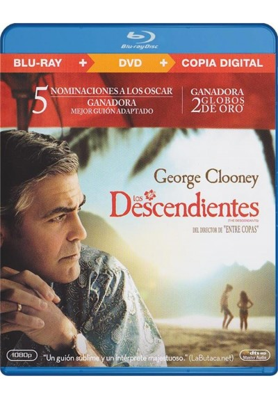 Los Descendientes (Blu-Ray + Dvd + Copia Digital) (The Descendants)