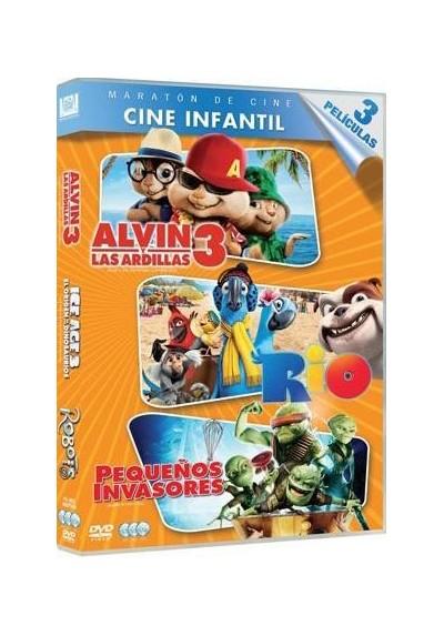 Cine de Infantil (Alvin Y Las Ardillas 3 + Río + Pequeños Invasores)