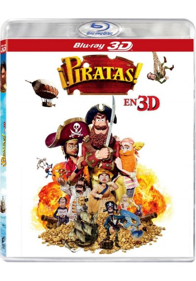 Piratas! (Animacion) (The Pirates! In An Adventure With Scientists!) (Blu-Ray 3D)