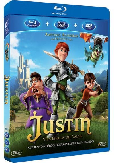 Justin Y La Espada Del Valor (Blu-Ray 3d + Blu-Ray + Dvd)