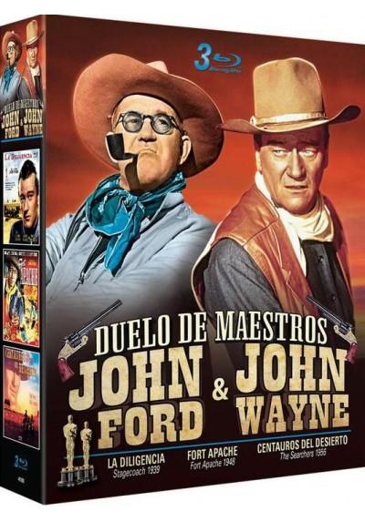 Pack Duelo de Maestros: John Ford & John Wayne - La Diligencia / Fort Apache / Centauros Del Desierto (Blu-Ray)