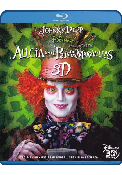 Alicia En El Pais De Las Maravillas (2010) (Blu-Ray 3d) (Alice In Wonderland)