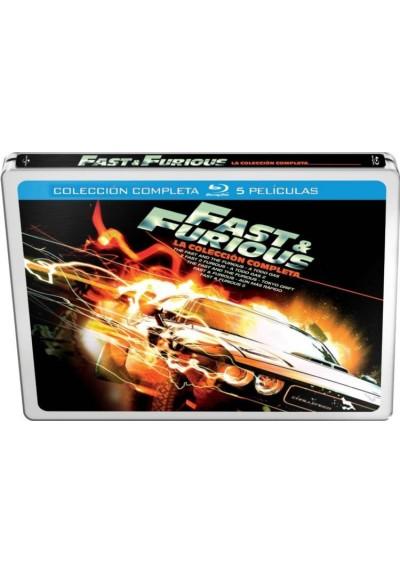 Fast & Furious - Coleccion Completa 5 Peliculas (Blu-Ray) (Ed. Metalica)