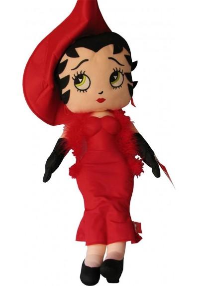 Betty Boop con Vestido de Noche Rojo - 70 cms.