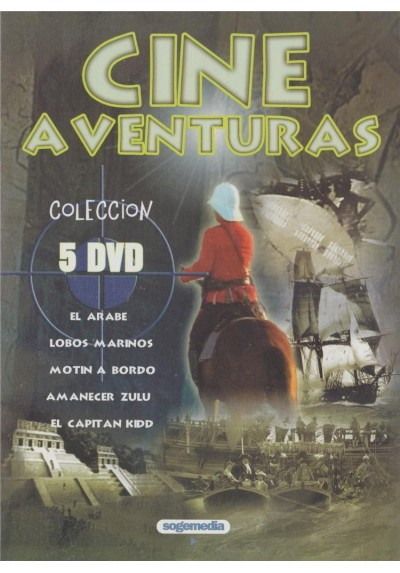 Coleccion Cine de Aventuras El Arabe + Lobos Marinos + Motin a Bordo +  Amanecer Zulu + El Capitan Kidd