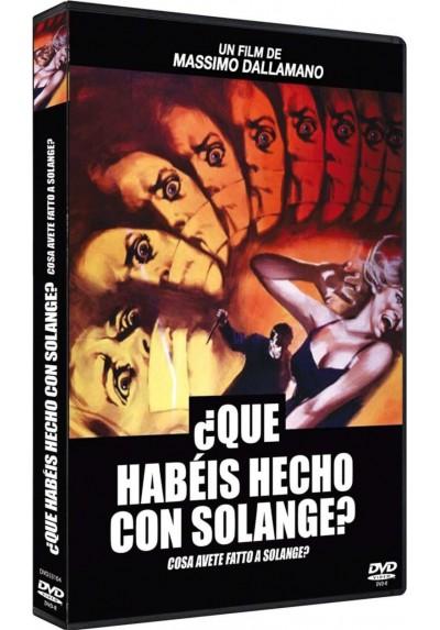 Que Habeis Hecho Con Solange? (Dvd-R) (Cosa Avete Fatto A Solange?)