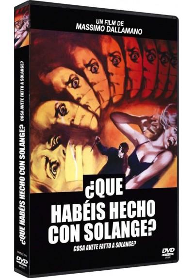 Que Habeis Hecho Con Solange? (Dvd-R) Cosa Avete Fatto A Solange?