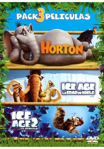 Pack Horton + Ice Age La Edad de Hielo + Ice Age 2 El Deshielo