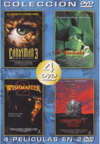 Pack Coleccion: Candyman 3 : El Dia De Los Muertos / El Dentista 2 / Wishmaster 2: El Diablo Nunca Muere /  Christina´s House