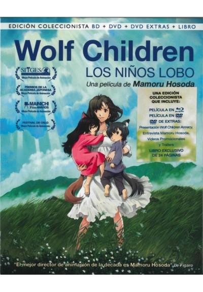 Wolf Children (Blu-Ray + Dvd + Dvd Extras + Libro) (Ed. Coleccionista) (Los Niños Lobo)