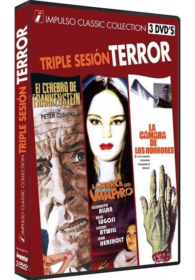Triple Sesion Terror 1 : El Cerebro De Frankenstein / La Marca Del Vampiro / La Camara De Los Horrores (Dvd-R)