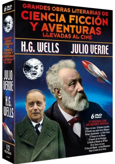 Pack Grandes Obras Literarias de Ciencia Ficción y Aventuras Llevadas al Cine: Julio Verne + H.G. Wells