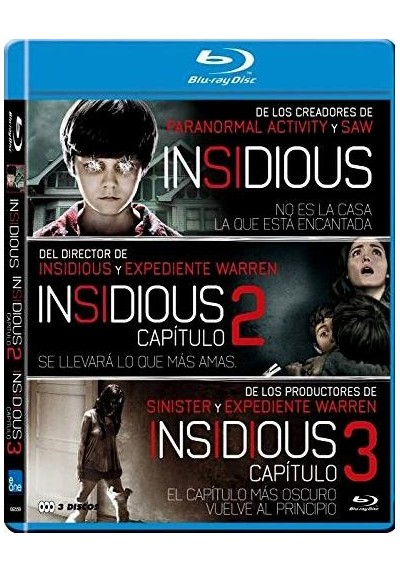 Pack Insidious - Trilogia (Blu-Ray)