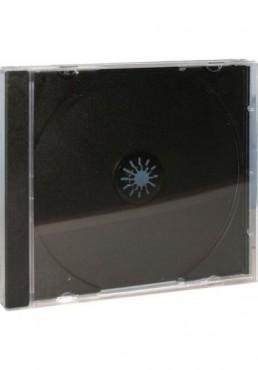 Estuche CD Jewell Box 10mm Bandeja Negra (1 Disco)