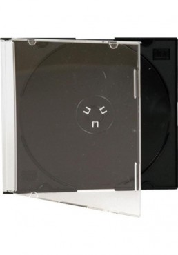 Estuche CD Slim 5mm. Color Negro (1 Disco)