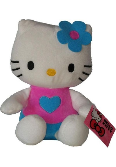 Hello Kitty Rosa con Corazon - 21 cms.