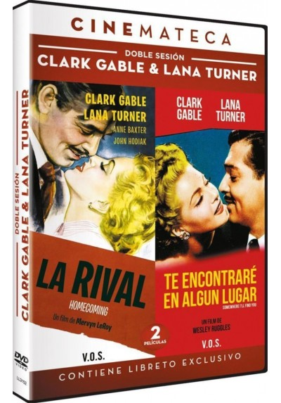 Doble Sesion: Clark Gable y Lana Turne - La Rival / Te Encontrare En Algún Lugar (V.O.S.) (Homecoming / Some Where I´ll Find You