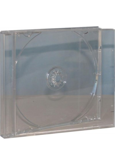 Estuche CD Jewell Box 10mm Bandeja Trasnparente (1 Disco)