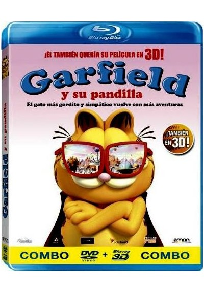 Garfield Y Su Pandilla (Blu-Ray 3d + Dvd)