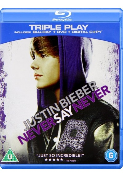 Justin Bieber : Never Say Never (Blu-Ray + Dvd + Digital Copy)