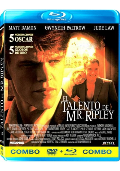 El Talento De Mr. Ripley (Blu-Ray + Dvd) (The Talented Mr Ripley)